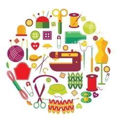 Needlework Objects Set vector image
