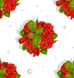 Red Roses Bouquet vector image