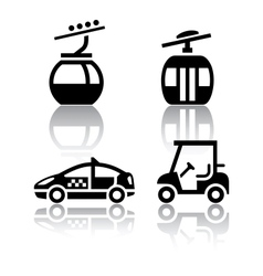 Set of transport icons - sport vector image vector image