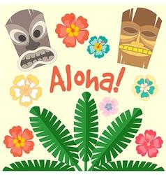 Aloha flower vector image