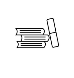 books education icon vector image
