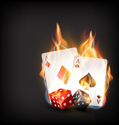 casino playing card vector image vector image