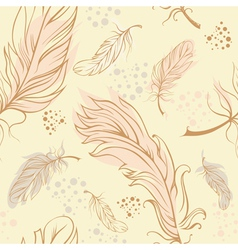 Feathers seamless vector image vector image