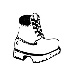 Hand drawn boot vector image