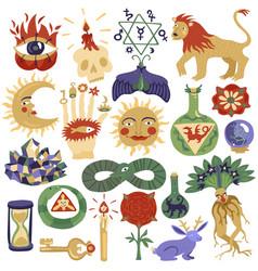 magic tattoo set vector image