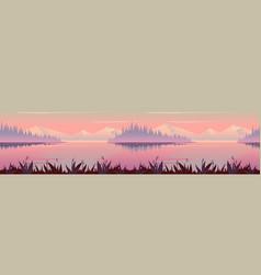 autumn background nature landscape vector image