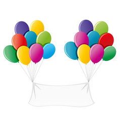 banner with colorful balloons vector image vector image