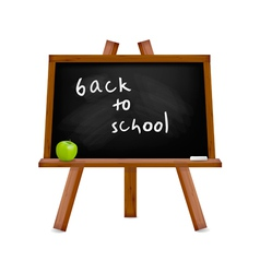 blackboard with easel with text vector image