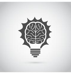 brain bulb vector image vector image