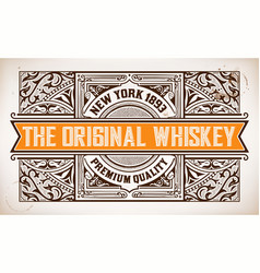 Retro label with western style vector