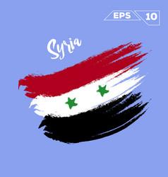 siria flag brush strokes painted vector image