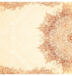 Vintage hand-drawn background vector image