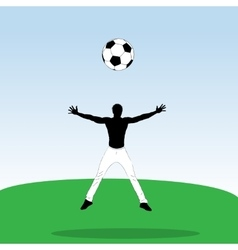 Young athlet with football ball vector image vector image