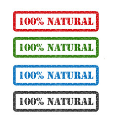 100 natural set rubber stamp isolated on vector