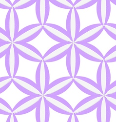 3D colored purple geometrical flower vector image