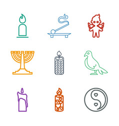 9 religion icons vector image