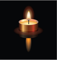A small burning candle vector
