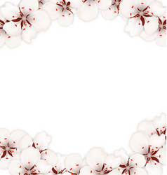Abstract border made in cherry blossom vector