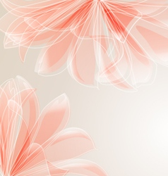 abstract floral background with place for text vector image