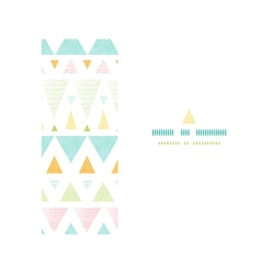 Abstract ikat triangles stripes horizontal vector image