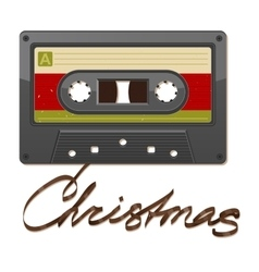 Audio cassette tape Film written Christmas vector image