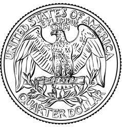 bald eagle washington quarter 25 cent coin vector image