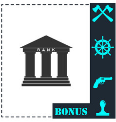 bank icon flat vector image