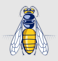 Bee honey sting insect with stripes vector