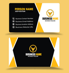 Best black yellow business cards design psd vector