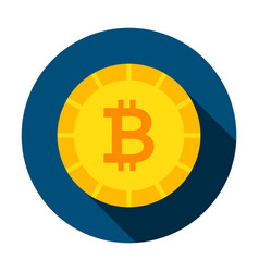 bitcoin money circle icon vector image
