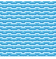 Blue flat wave pattern vector