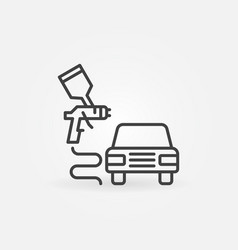 car body painting concept minimal line icon vector image