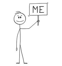 Cartoon positive smiling man or businessman vector
