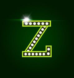 Casino and resort letter z luxury letter vector
