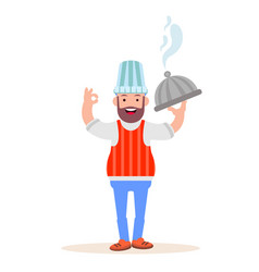 Chef character in a standing position vector