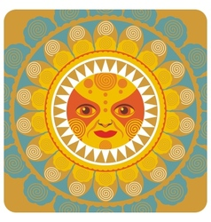 Concentric decorative summer sun vector