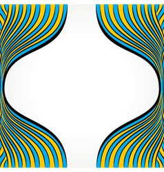 creative blue and yellow strip vector image