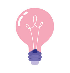 creativity light bulb idea innovation isolated vector image