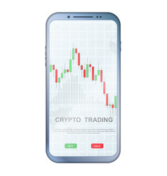 crypto trading colorful phone vector image