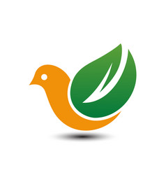 eco bird logo vector image