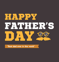 Father day background card brown vector