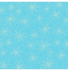 Flowers on blue background vector image