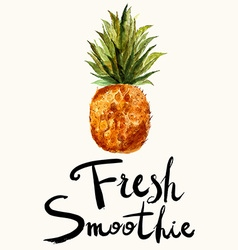 Fresh smoothie vector