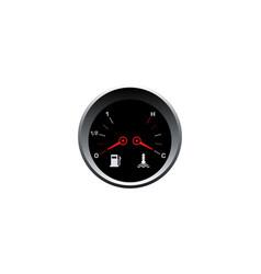 fuel gauge and heat panel design vector image