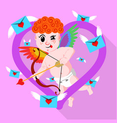 gay valentines day amour or cupid vector image