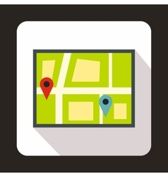 Geo location of taxi icon flat style vector image