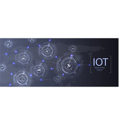 Internet of things iot and networking vector