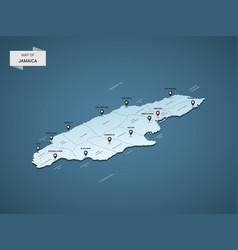 Isometric 3d jamaica map concept vector