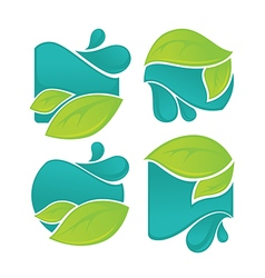 Leaves and waters vector