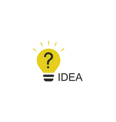 light bulb idea logo vector image